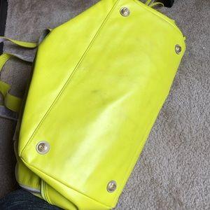 lululemon athletica Bags - Lululemon rare neon yellow bag